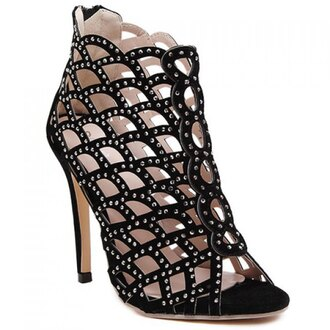 shoes black heels sandals rhinestones fashion style party high heels sexy hot rose wholesale-jan