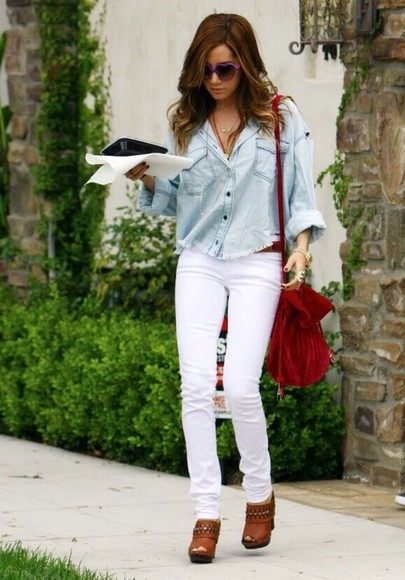 blouse ashley tisdale bag