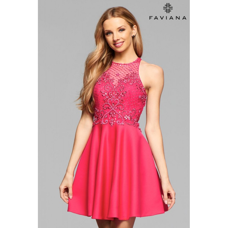 Hibiscus Pink Faviana Glamour S7871 - Brand Wedding Store Online