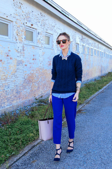 bows jewels bag blogger prosecco and plaid make-up knitted sweater