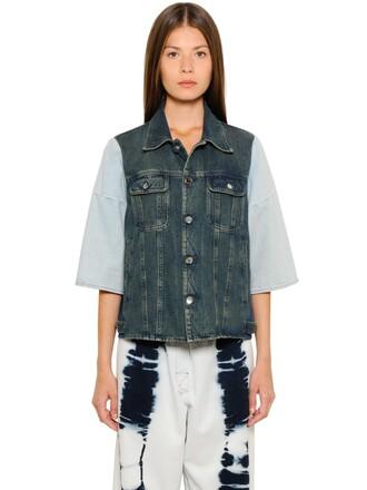 jacket denim jacket denim cotton blue