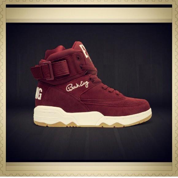burgundy high top sneakers