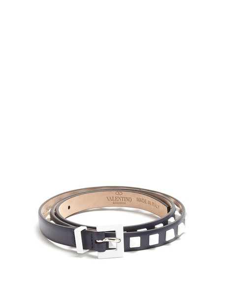 Valentino belt leather navy
