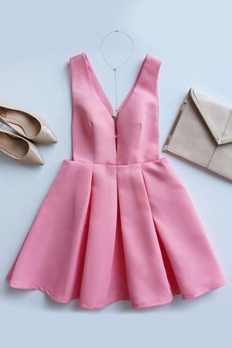 dress pink dress outfit