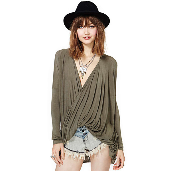 Draped army top