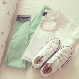 jeans leggings pants pastel mint skinny jeans
