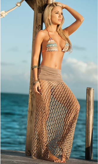 skirt maxi skirt beach skirt beige beige maxi skirt beige skirt knit fishnet skirt fishnet skirt