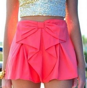 Cute bow shorts