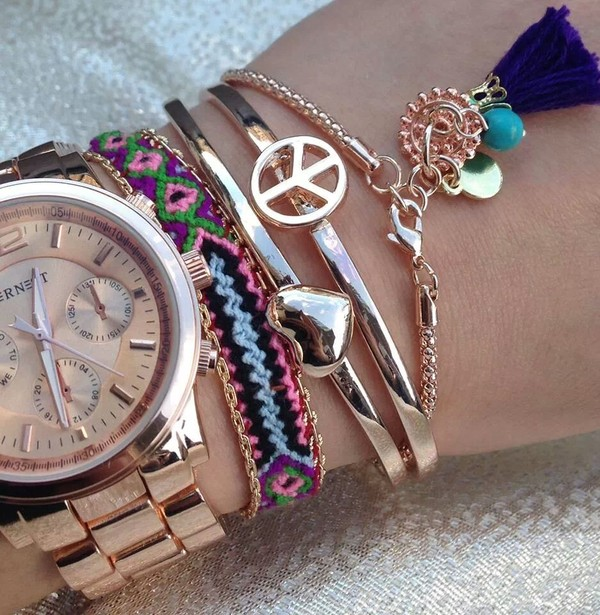 jewels lovely jewerly gold watch
