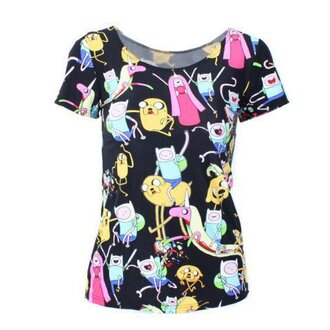 top cool pretty adventure time adventures in fashion printed t-shirt