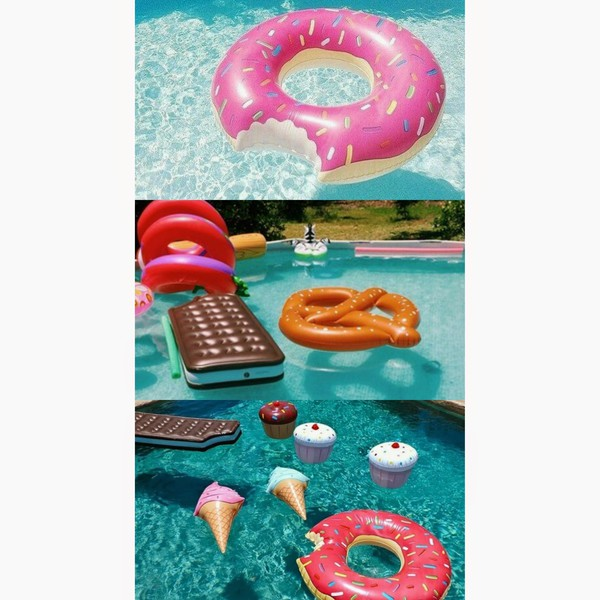 swimwear balloon pool sea chocolate cupcake ice cream sun bikini girl glamour home decor