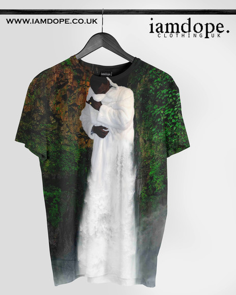 swag dope t-shirt allover allover print swagger hiphop rare gucci mane gucci waterfall tshrt newyorkcity sublimation sweater