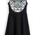 Black Sleeveless Tiger Print Ruffle Dress - Sheinside.com