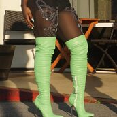 shoes,thigh high boots