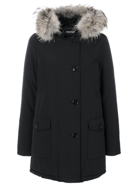 parka women cotton black coat
