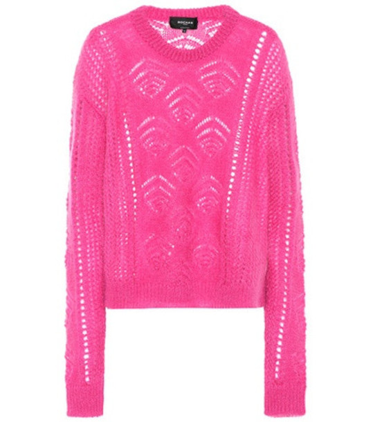 Rochas Mohair and wool-blend sweater in pink