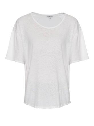 t-shirt shirt short cotton white top