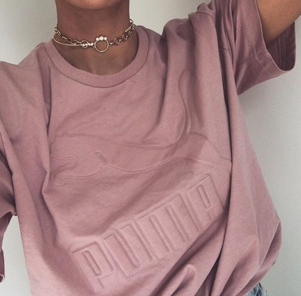 shirt puma pink t-shirt