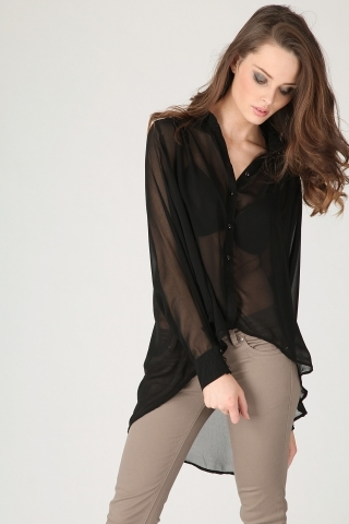 Sheer Black Blouse Photo Album - Reikian