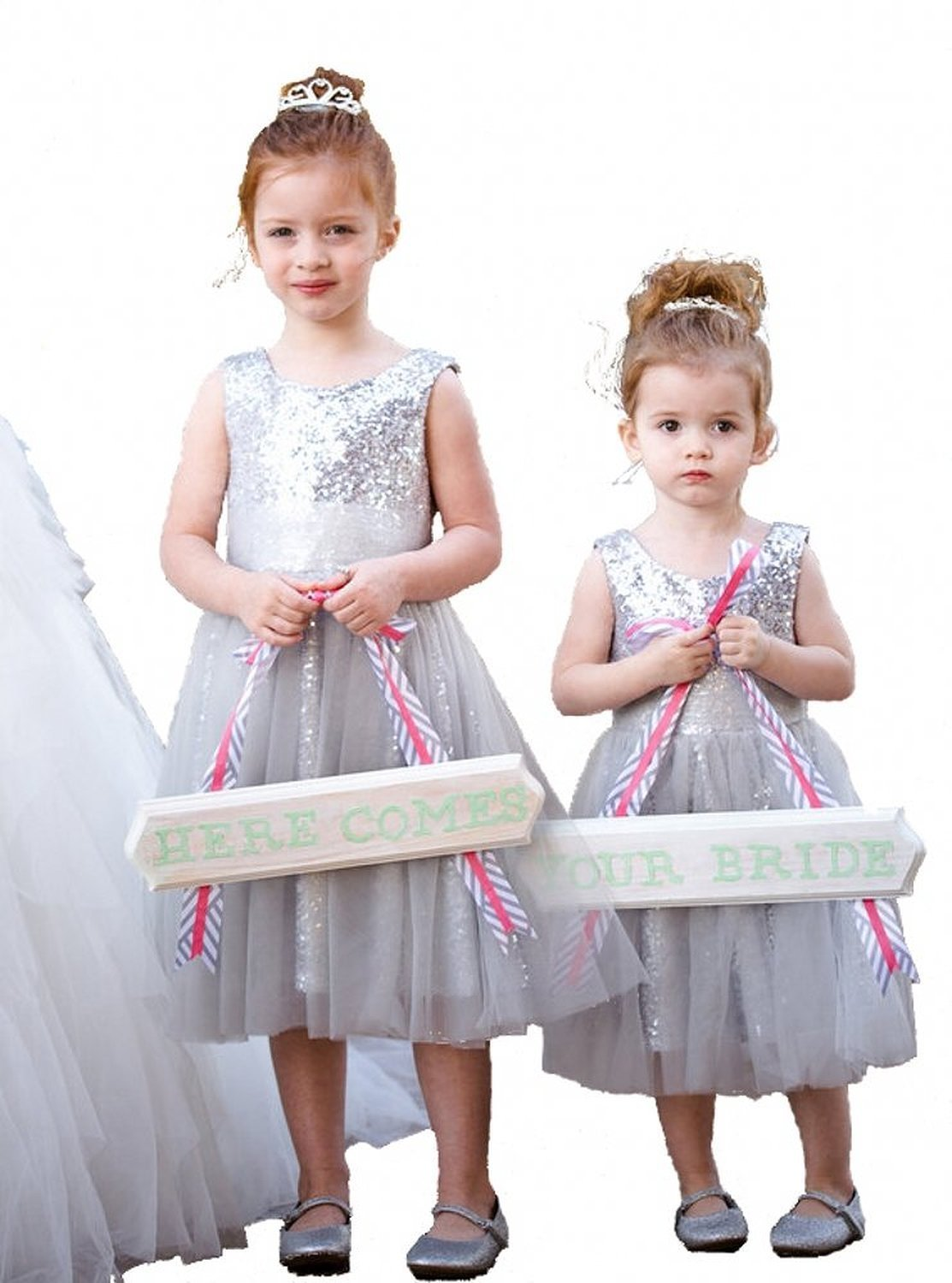 dresses dress ball pageant gown girl flower wedding birthday party sequin silver girls beautiful product