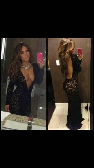 gown gorgeous v-cut nude j-lo jennifer lopez