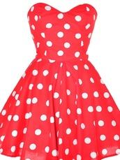 dress,polka dots,red,red dress,clothes,polka dots dress,minnie mouse,teenagers,strapless dress,red dress with white polka dots,google,polka dot red dress,cute dress,cute,red polkadot,red polka dot dress,skirt