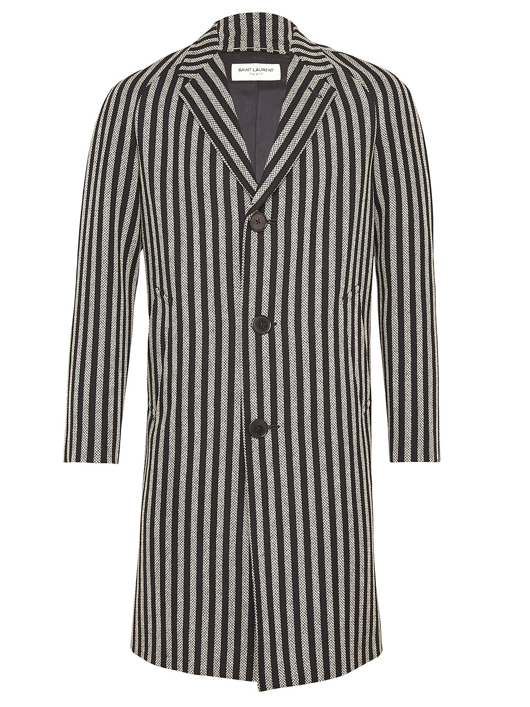 b88579bff1d Saint Laurent | Gray Mens Classic Wide Stripe Coat for Men | Lyst
