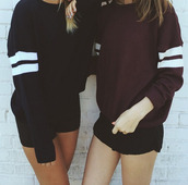 swe,sweater,black,burgundy,cute,fall outfits,fall sweater