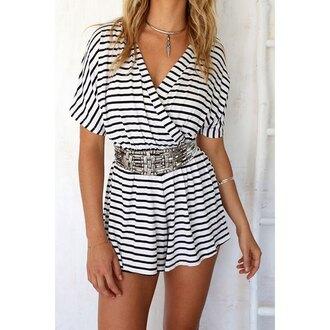 romper stripes fashion style trendy hot stylish rose wholesale-ma