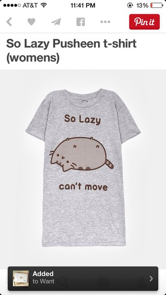 shirt so lazy pushteen t-shirt