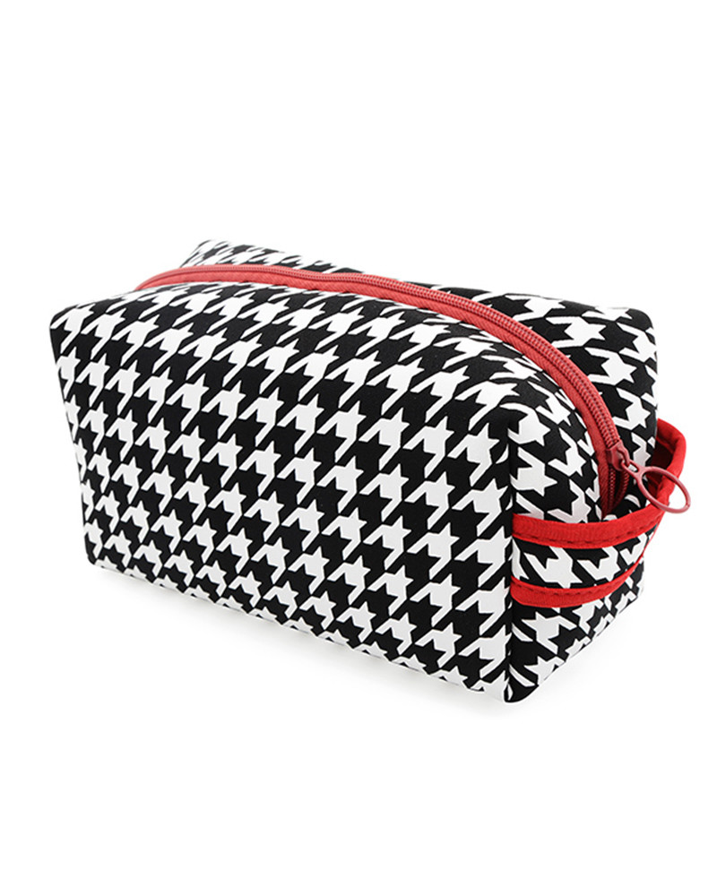 Houndstooth Toiletry Bag