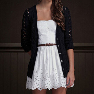 cardigan black cardigan fall outfits hollow out crochet top