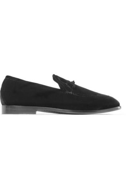 Jimmy Choo loafers black velvet shoes