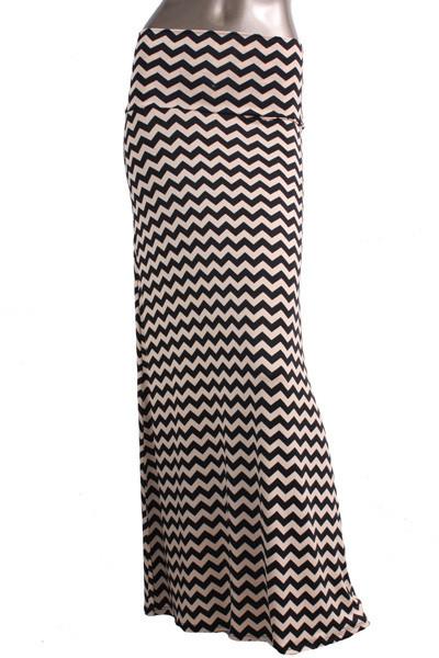 Chevron Print Maxi Skirt – Betsy Boo's Boutique