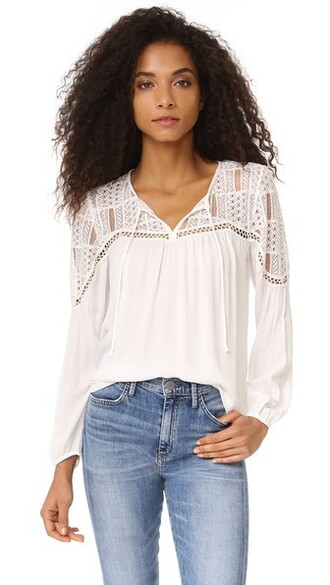 top peasant top lace