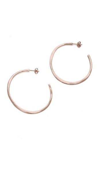 Gorjana Arc Hoop Earrings - Rose Gold