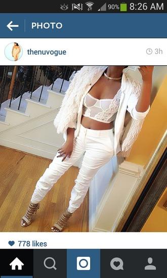 pants white baggy pants
