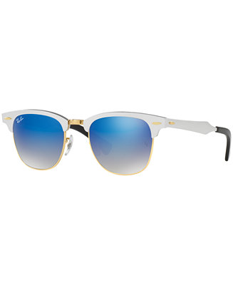 Ray-Ban CLUBMASTER ALUMINUM Sunglasses, RB3507 51 - Sunglasses by Sunglass Hut - Handbags & Accessories - Macy's