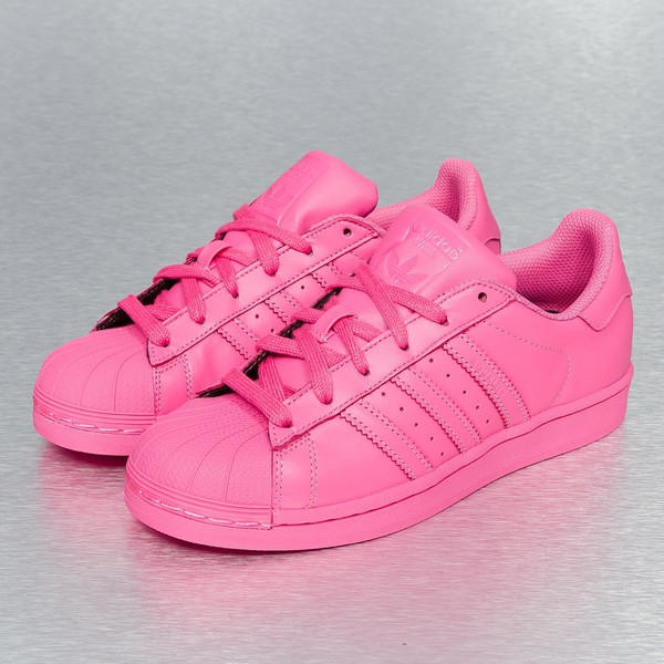 shoes, adidas supercolor, rose, pink, pharrell williams, pink adidas superstar - Wheretoget
