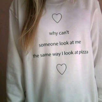 top pizza love sweat pull white white pull white sweater sweater women