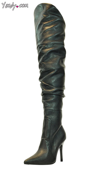 Rampage Thigh High Boot, Thigh High Black Boots, Pointy Toe Boot