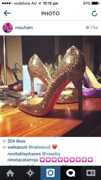 shoes glitter heels high heels sparkly rhinestone bling