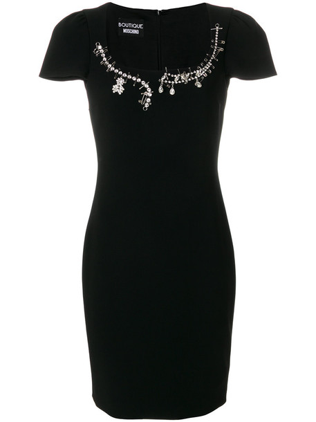 BOUTIQUE MOSCHINO dress women embellished black