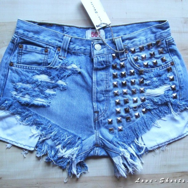 shorts jeans ripped shorts summer levi's 501 levi's studded shorts denim urban outfitters
