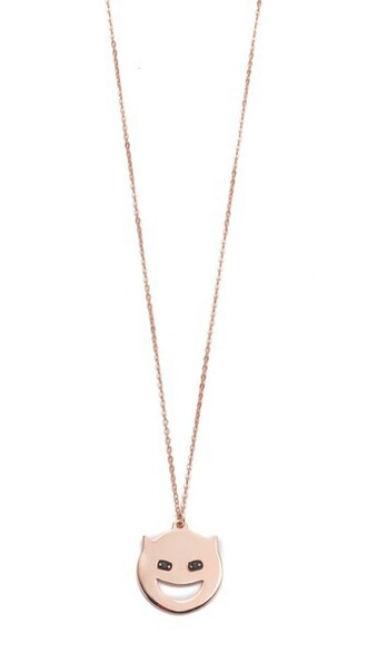 rose gold rose necklace gold black jewels