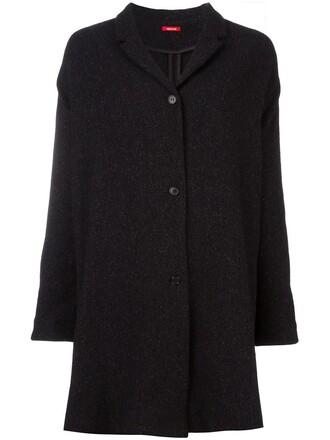jacket long women black silk