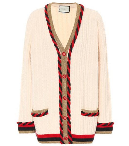 Gucci Wool and cashmere cardigan in beige / beige