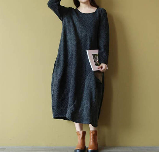 dress long dress long bottoming dress