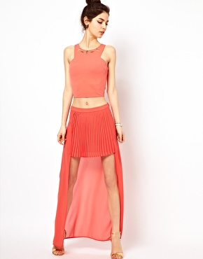 Oh My Love | Oh My Love High Front Maxi Skirt at ASOS
