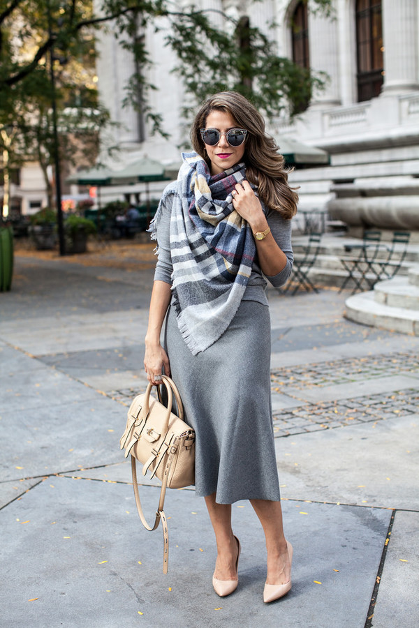the corporate catwalk blogger scarf bag sunglasses
